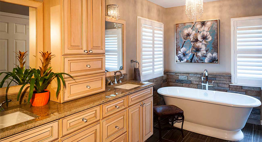 Vanity with separate sinks