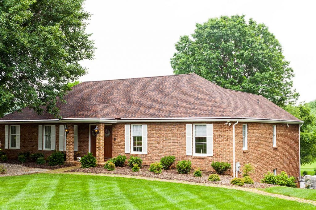 Brick siding home exterior