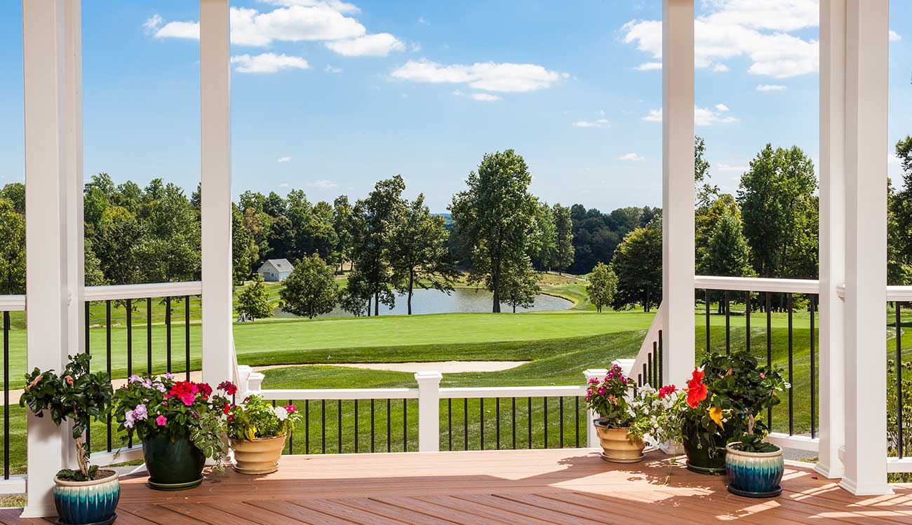 Award-winning deck overlooking golf course