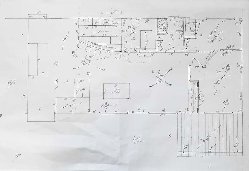 Hand Drawn Floor Plans