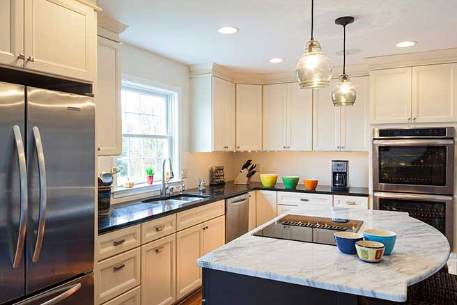 Kitchen redesigned for open-concept