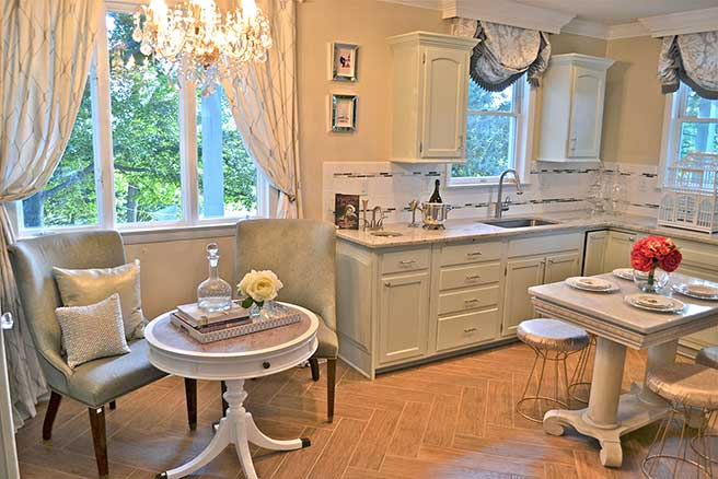 Kitchen of Rockfield Manor in Bel Air after remodeling
